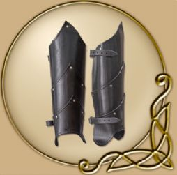 LARP Alistair Leather Greaves